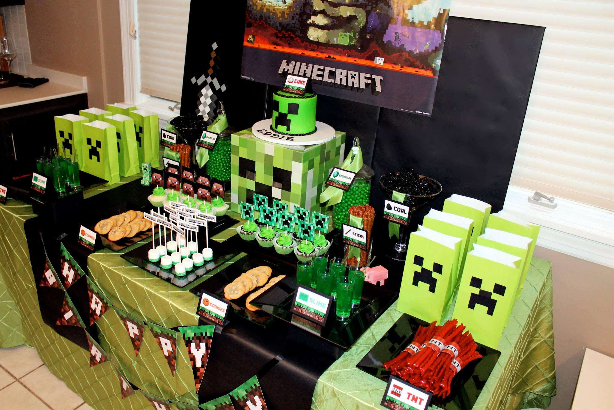 Minecraft Creeper Birthday Party Birthday Party Ideas