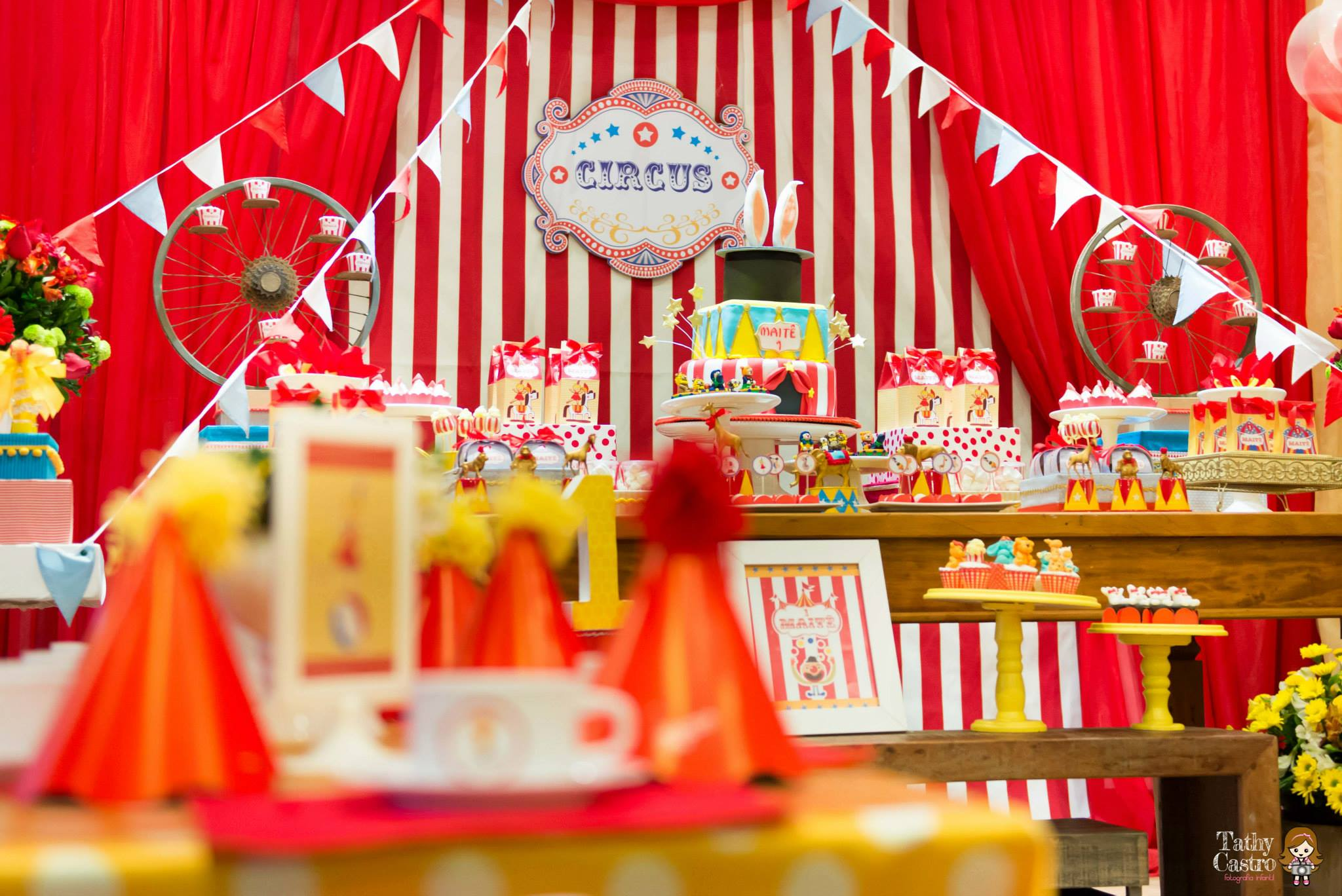 Classic Red Amp White Circus Themed Birthday Party