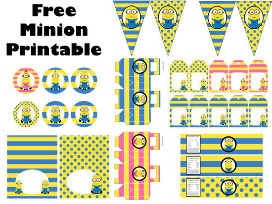 FREE Minion Party Printable Birthday Party Ideas & Themes