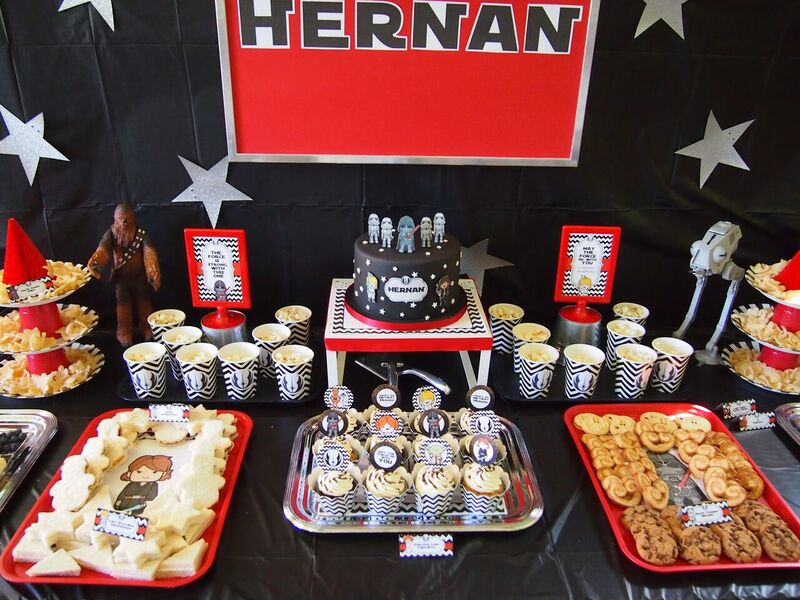 Iconic Star Wars Birthday Party Snack Table