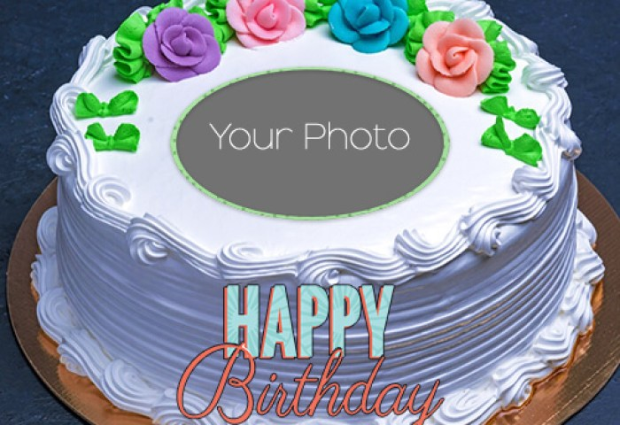 Popular Birthday Wishes Greeting Card With Name And Photo