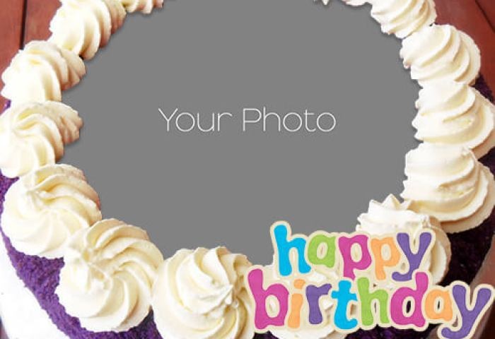 Beautiful Birthday Cake With Name And Photo Edit