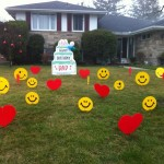 birthday lawn signs guelph birthday cake