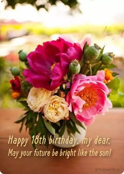 18th Birthday Wishes For Girl With Images