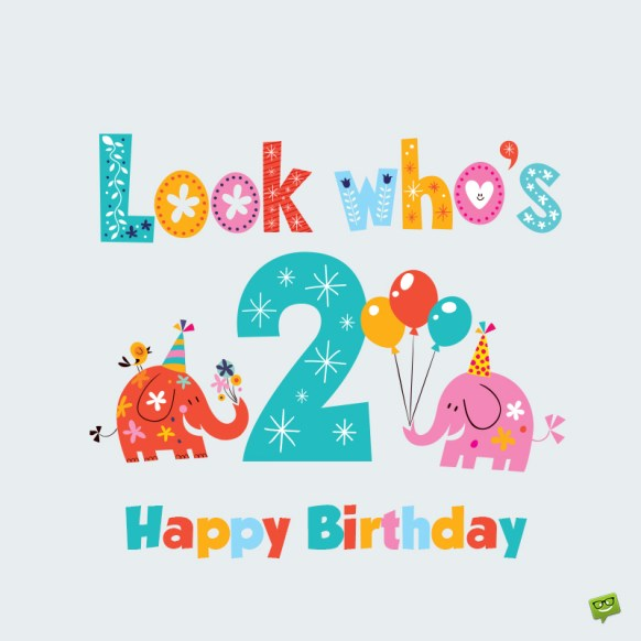 Happy 2nd Birthday Images