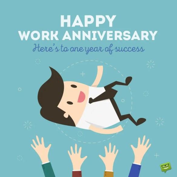 happy work anniversary images