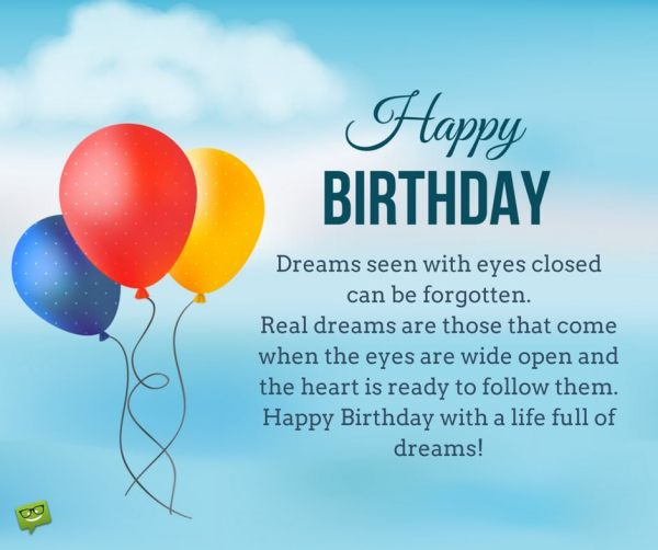 Inspirational Birthday Wishes Messages to Motivate and