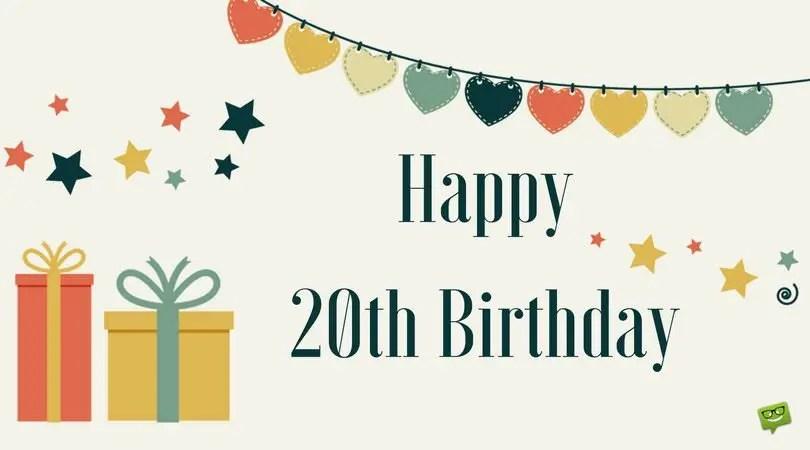20th Birthday Wishes Best SaveEnlarge