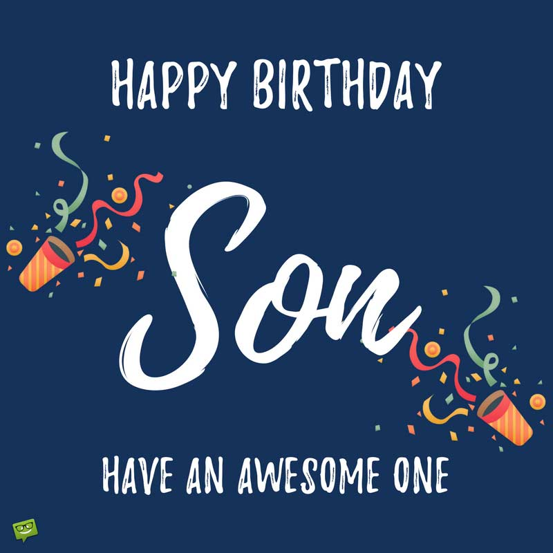 Wishes Son Happy Post Facebook Birthday