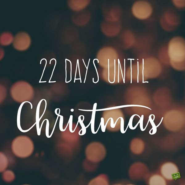 A Christmas Countdown How Many Days Until December 25th