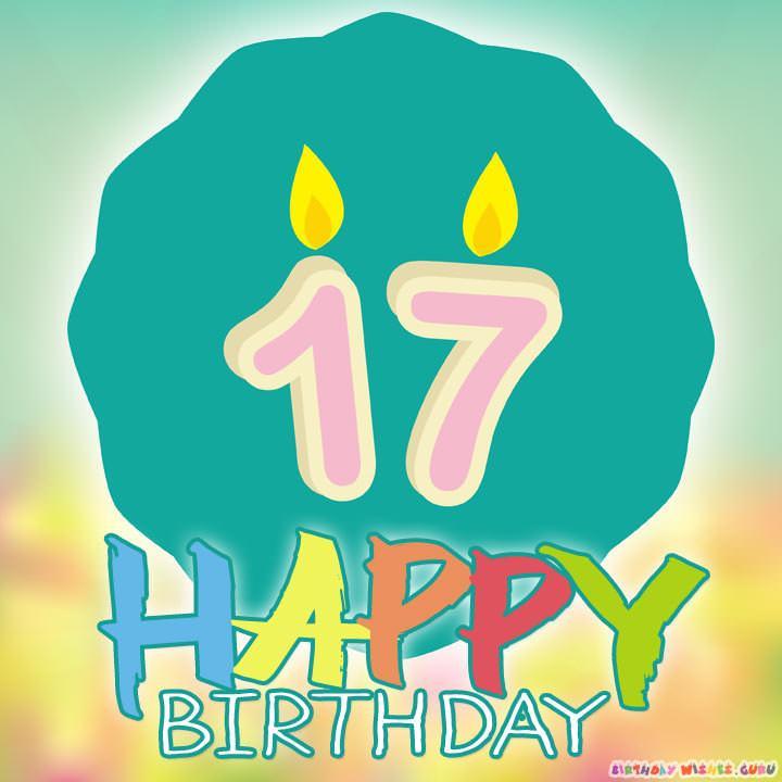 happy 17th birthday wishes