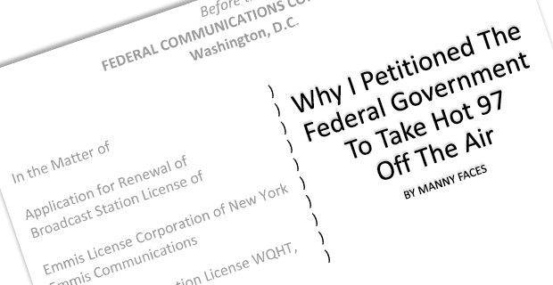 Why I Petitioned The FCC To Take Hot 97 Off The Air