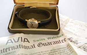 1974 Avia ladies watchwith box and papers