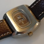 A digital mechanical jump hour watch from the seventies