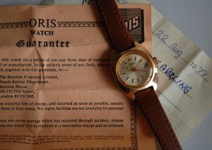 1978 Oris ladies watch with box and papers