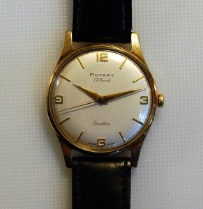 1962 Rotary 9ct gold cased manual wind men's watch