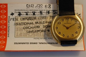 1975 Continental ladies watch with box and papers