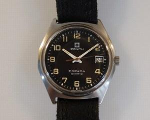 c1979 Zenith Espada men's quartz watch