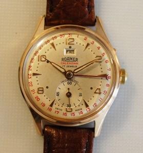 1960 Roamer men's day date calendar watch