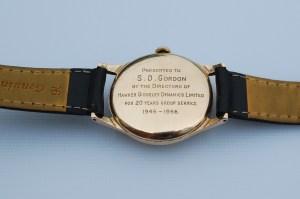 1965 1966 Garrard 9ct men's gold watch