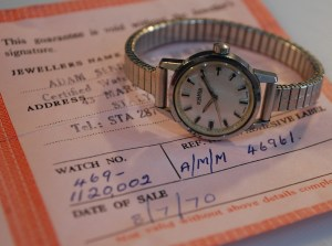 1968 or 1970 ladies Roamer watch with box and papers