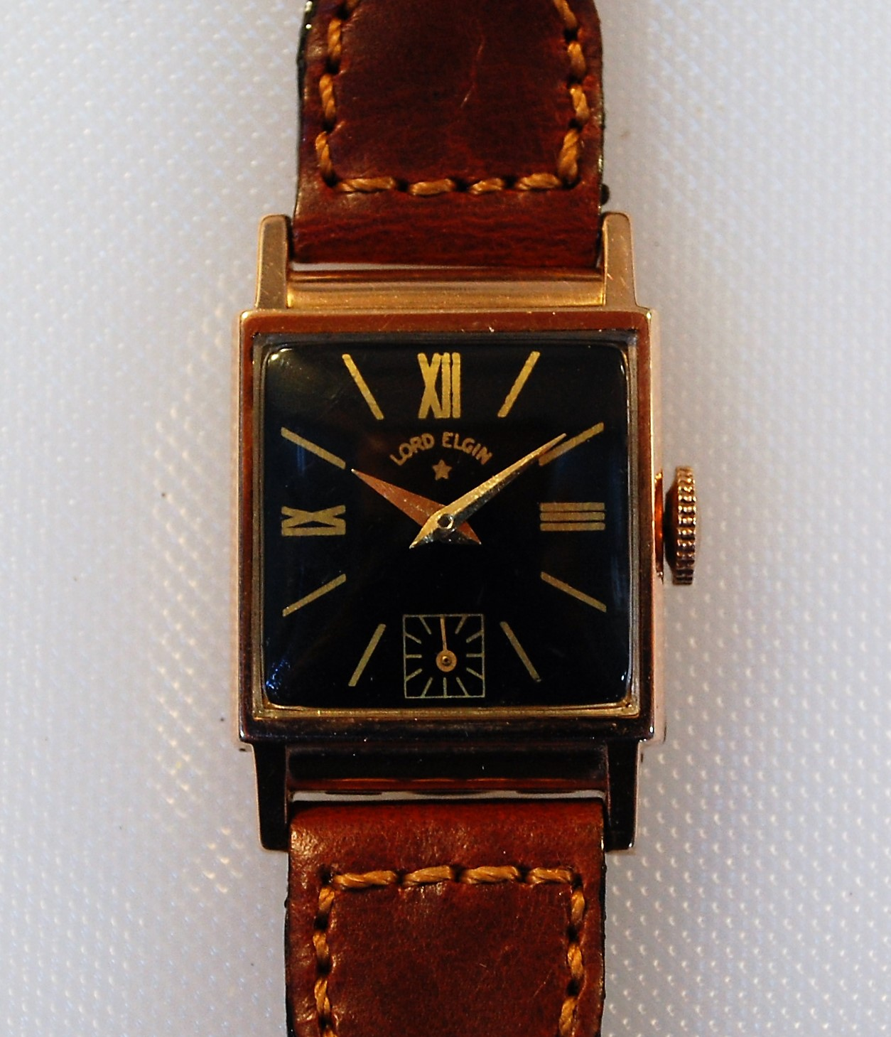 shaped gold yellow filled pin rectangular s glycine vintage watches watch