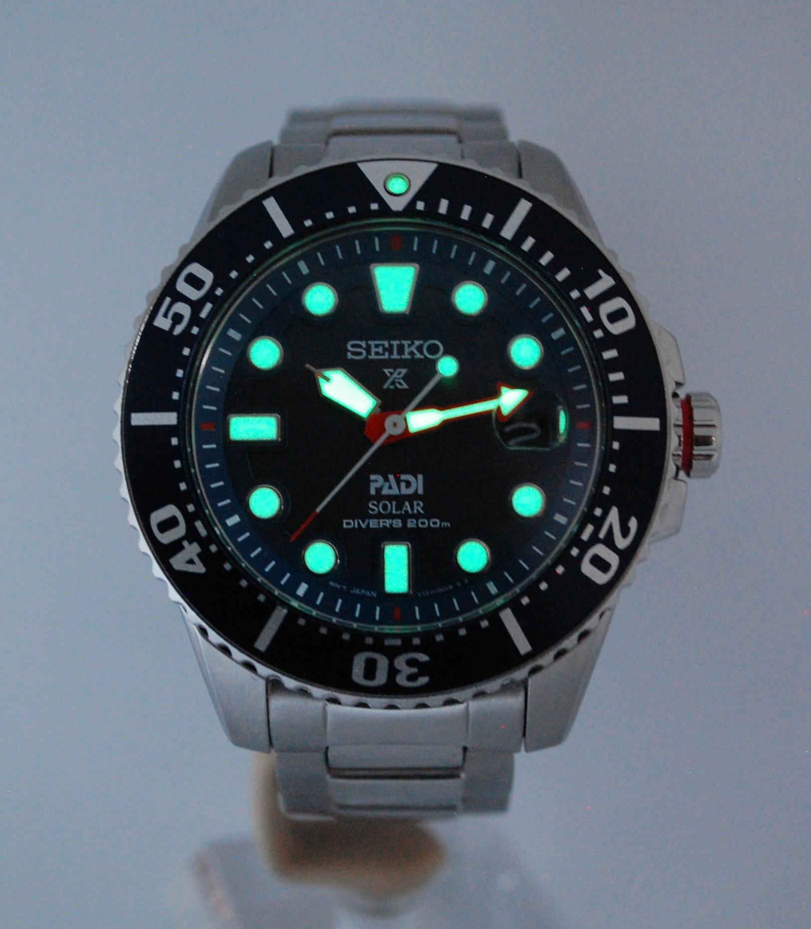 Sold 2017 Seiko Prospex Padi Solar Divers Watch Birth