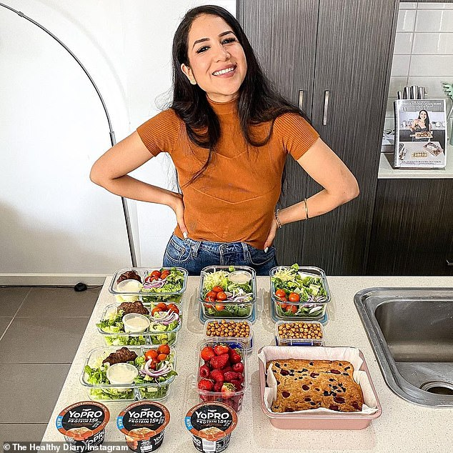Ange of The Healthy Diary in Melbourne got tired of feeling like her meal prep was taking over her entire day and feeling exhausted from the idea of batch cooking (picture after preparation).
