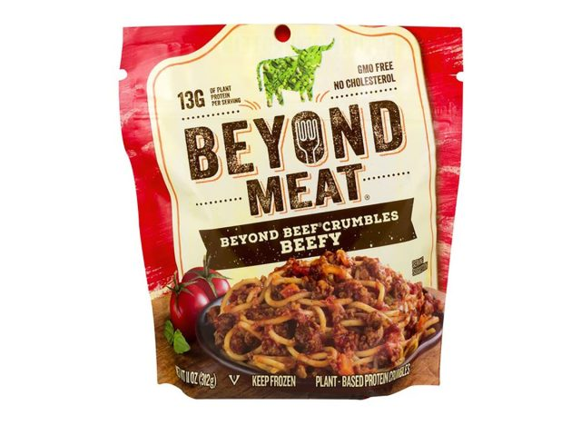 Bag of Beyond Meat Beefy Crumbles