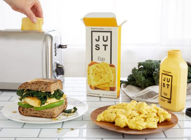 Toaster folded with eggs only