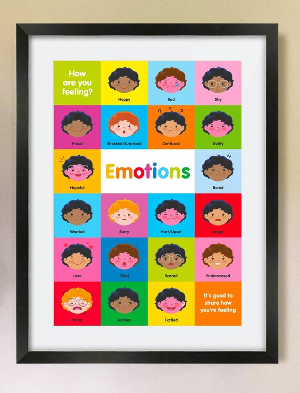 David and his company created posters to help children identify their emotions and speak