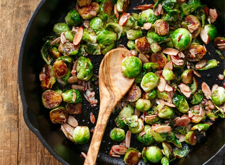 Sour cherry glazed Brussels sprouts