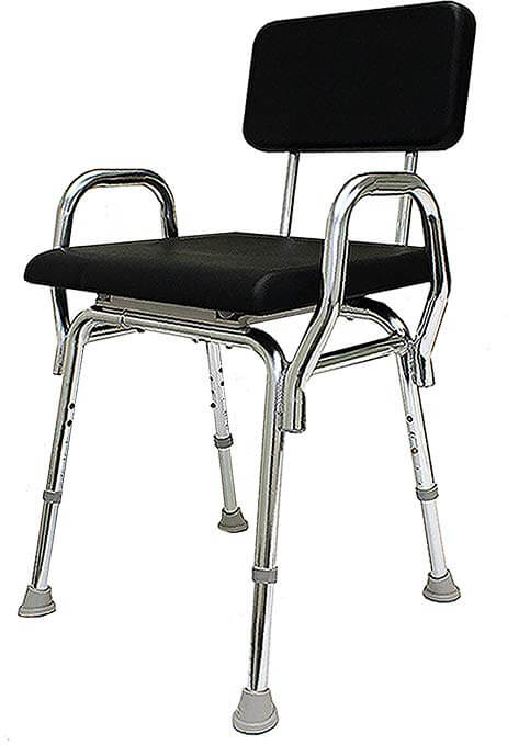 Eagle Health Supplies Padded Shower Chair with Back and