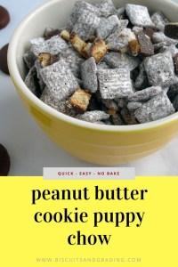 peanut butter cookie puppy chow recipe
