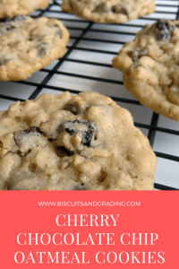 cherry chocolate chip oatmeal cookies