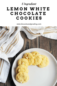 lemon white chocolate cookies #cookies #5ingredient #cakemixcookies #foodie #yum #easydessert
