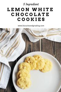 lemon white chocolate cookies #cookies #5ingredient #cakemixcookies #foodie #yum #easydessert
