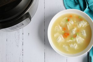 Instant Pot Healthy Wonton Vegetable Soup
