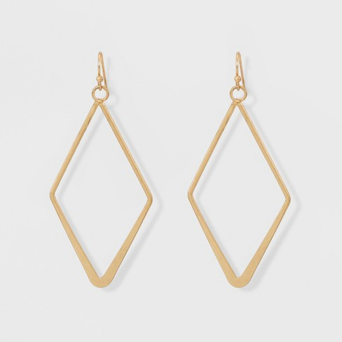 Open Work Diamond Shape Drop Earrings - Universal Thread™