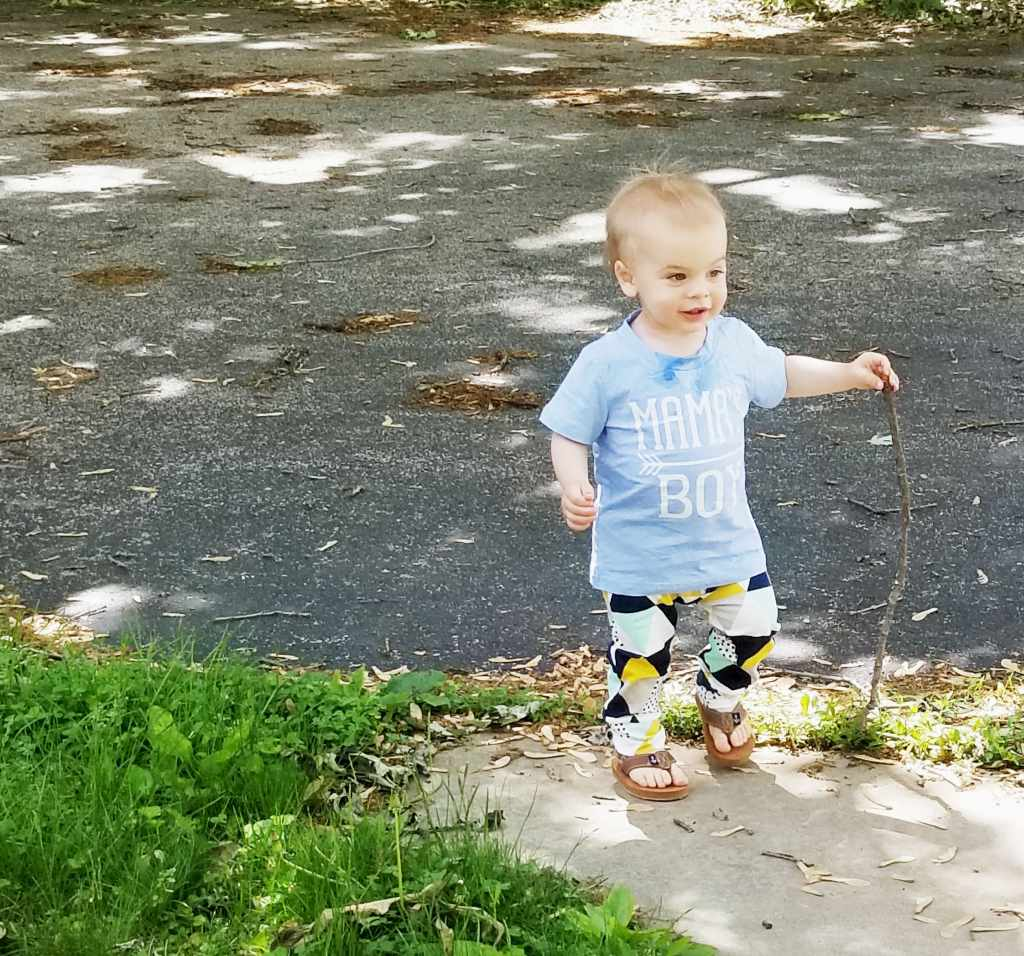 boy and his stick toddler boy clothes