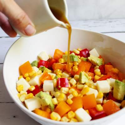 Fresh Cold Corn Salad with Lime Vinaigrette