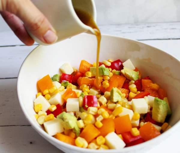 Fresh Cold Corn Salad with Lime Vinaigrette