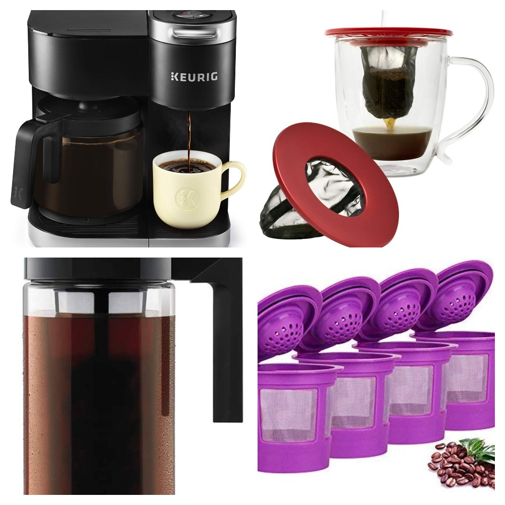 Collage of Brewing Equipment Coffee Lovers Gift Guide