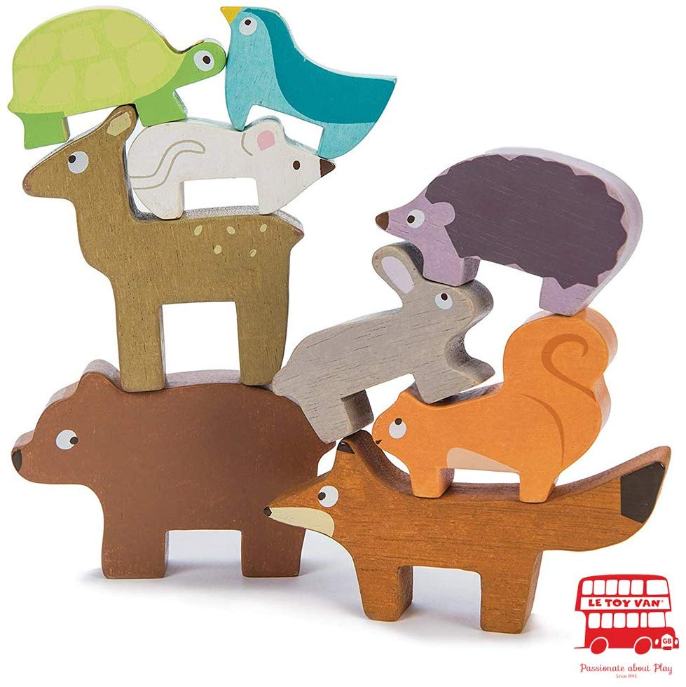 Wooden Forest Animal Stacking Toy