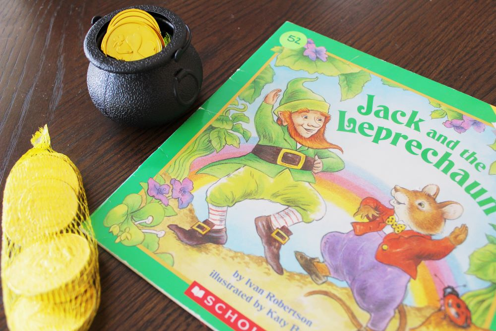 jack the leprechaun book pot of gold coins for scavenger hunt 1
