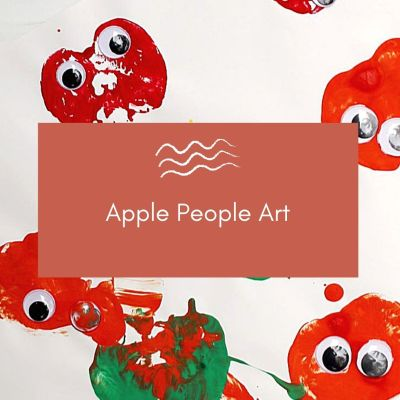 Apple Stamping - a Simple Preschool Fall Craft