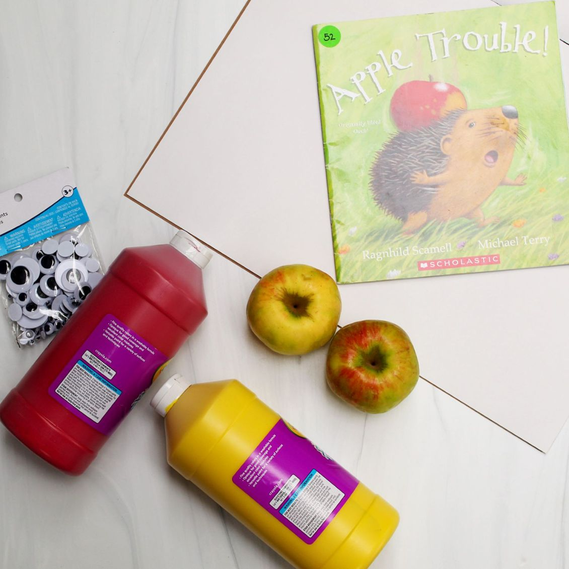 apple stamping supplies flatlay 1