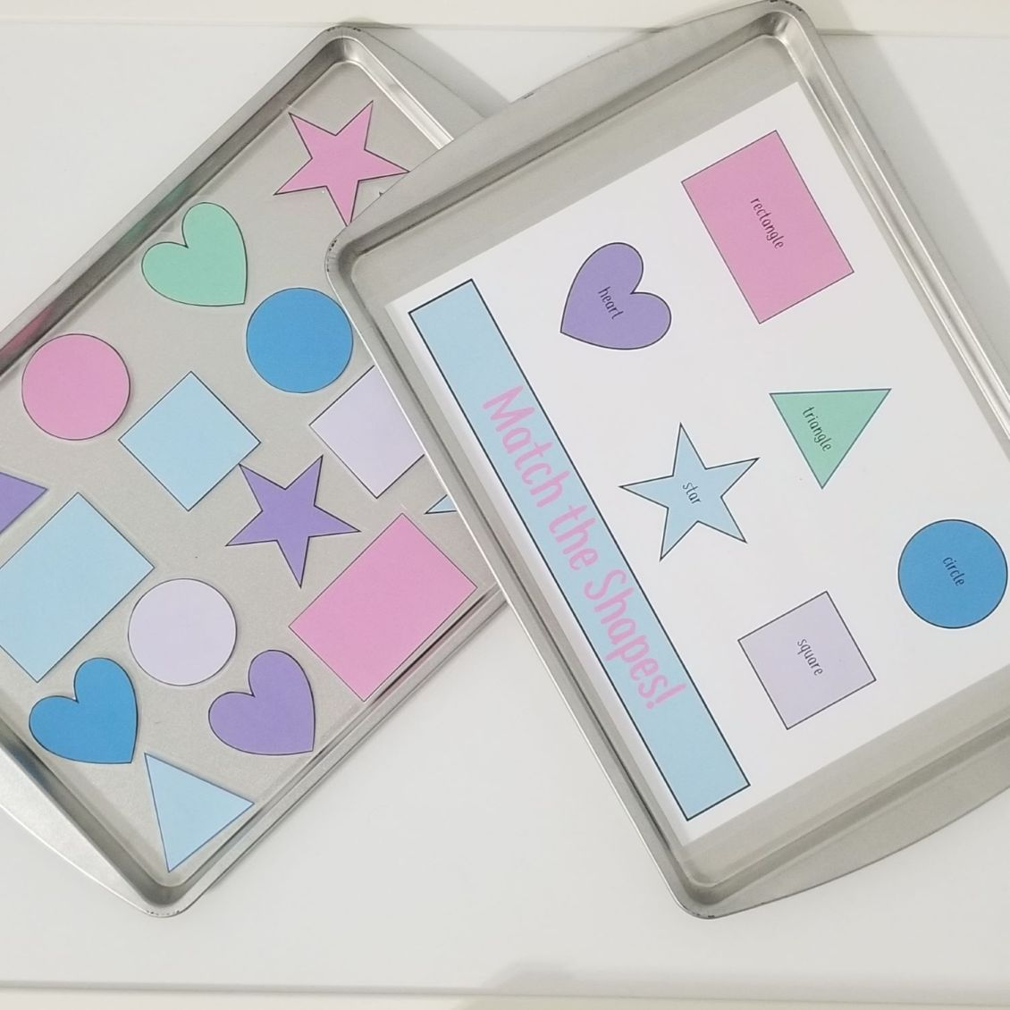 magnet boards with shape sorting activity 1