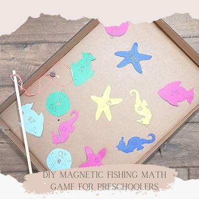 DIY Magnetic Fishing Math Game for Preschoolers