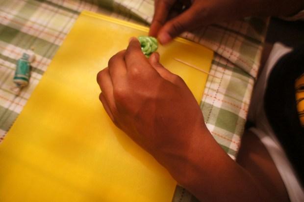 making lettuce